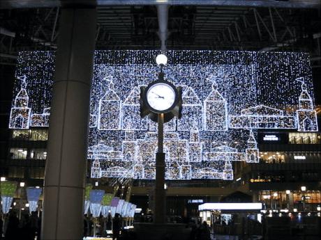 JR大阪駅・時空の広場のクリスマスイルミネーション