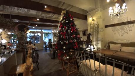 cafe Cherish カフェ チェリッシュ(京都・烏丸御池、京都市役所前)でワッフル