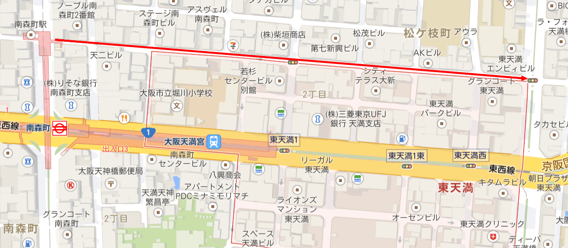 〒530 0044 大阪府大阪市北区東天満   Google マップ