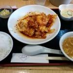 みわ亭(大阪・福島)特製海老のピリ辛ソースランチ