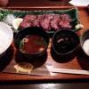 日日是耕日「限定10食 とんタンのみそ焼と麦トロロ定食」大阪・肥後橋