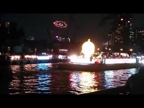 天神祭2016船渡御ー奉納花火