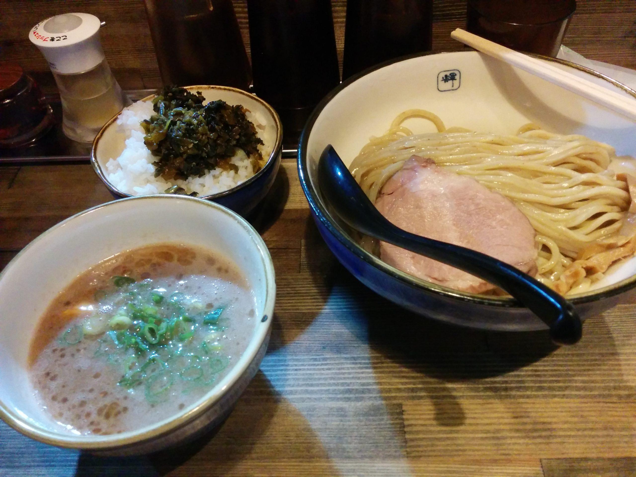 麺や輝天満橋店(大阪・東天満)1周年記念ラーメン・つけ麺500円